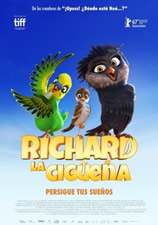 Cartel Richard, la cigüeña