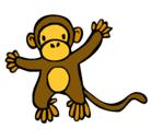 Dibujo Mono pintado por mono
