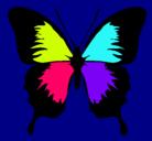 Dibujo Mariposa con alas negras pintado por NATALIA
