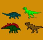 Dibujo Dinosaurios de tierra pintado por SEBASTIAN