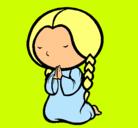 Dibujo Niña rezando pintado por Martita