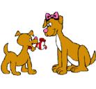 Dibujo Mama perra pintado por diadelasmamas