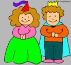 Dibujo Princesa y rey pintado por laura