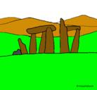 Dibujo Dolmen pintado por axel