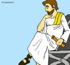 Dibujo Filósofo pintado por joe