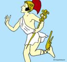 Dibujo Hermes pintado por joe