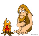 Dibujo Descubrimiento del fuego pintado por lizbeth