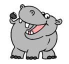 Dibujo Hipopótamo pintado por HIPOPOTAMO