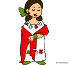 Dibujo Señora maya pintado por erika123