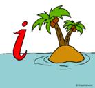 Dibujo Isla pintado por isla