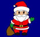 Dibujo Papa Noel 4 pintado por goku