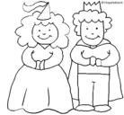 Dibujo Princesa y rey pintado por nines