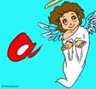 Dibujo Ángel pintado por Camila_