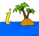 Dibujo Isla pintado por changos