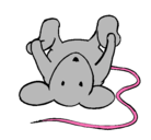 Dibujo Rata tumbada pintado por changos