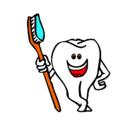 Dibujo Muela y cepillo de dientes pintado por yhhgi