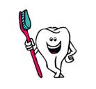 Dibujo Muela y cepillo de dientes pintado por shikis