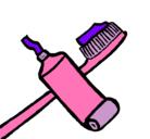 Dibujo Cepillo de dientes pintado por siria