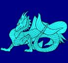 Dibujo Dragón de mar pintado por calaca