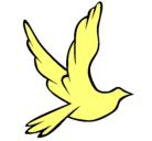 Dibujo Paloma de la paz al vuelo pintado por briza