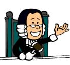 Dibujo Juez pintado por midio