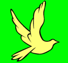 Dibujo Paloma de la paz al vuelo pintado por DESCHI