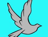 Dibujo Paloma de la paz al vuelo pintado por sabrin