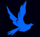 Dibujo Paloma de la paz al vuelo pintado por ruvanoy