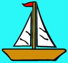 Dibujo Barco velero pintado por rios