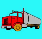 Dibujo Camión cisterna pintado por rios