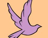 Dibujo Paloma de la paz al vuelo pintado por ceibo