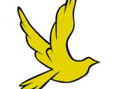 Dibujo Paloma de la paz al vuelo pintado por yucan