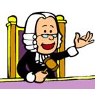 Dibujo Juez pintado por juezo
