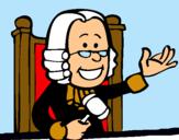 Dibujo Juez pintado por jues