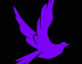 Dibujo Paloma de la paz al vuelo pintado por hatsiri