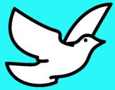 Dibujo Paloma de la paz pintado por jhonier