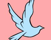 Dibujo Paloma de la paz al vuelo pintado por antonino17