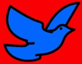 Dibujo Paloma de la paz pintado por KITIILORA