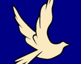 Dibujo Paloma de la paz al vuelo pintado por infierno
