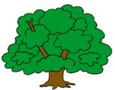 Dibujo Árbol pintado por arbolito