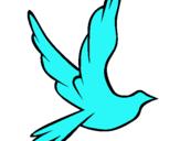 Dibujo Paloma de la paz al vuelo pintado por BERTA06
