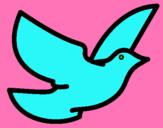 Dibujo Paloma de la paz pintado por keniprisila