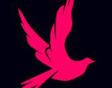 Dibujo Paloma de la paz al vuelo pintado por 2876009