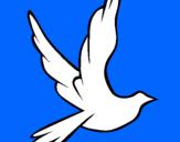 Dibujo Paloma de la paz al vuelo pintado por virgensita