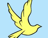 Dibujo Paloma de la paz al vuelo pintado por anrs2000