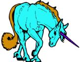 Dibujo Unicornio bravo pintado por veneno