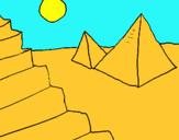 Dibujo Pirámides pintado por suma