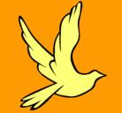 Dibujo Paloma de la paz al vuelo pintado por hghg