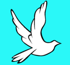 Dibujo Paloma de la paz al vuelo pintado por roser16