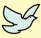 Dibujo Paloma de la paz pintado por pghghgfvytvr